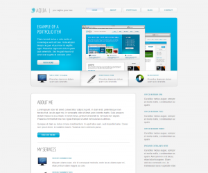 Aqua Css3 Template Downloads: 125
