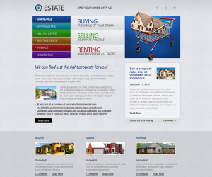 Real Estate Css3 Template Downloads: 7298