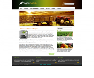 Agro World Css3 Template Downloads: 22853