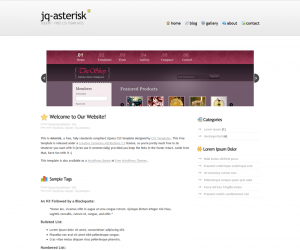 Asterisk Css3 Template Downloads: 1251