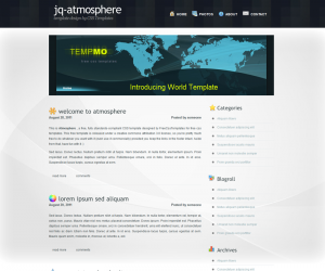 Atmosphere Css3 Template Downloads: 971