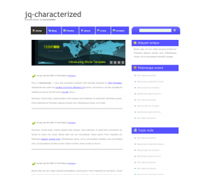 Characterized Css3 Template Downloads: 781