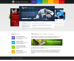 Design Company Css3 Template Downloads: 61653