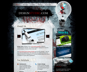 Design Studio Css3 Template Downloads: 27662