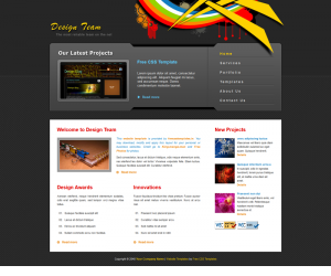 Design Team Css3 Template Downloads: 13048
