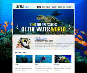 Diving Club  Css3Template Downloads: 42