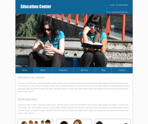 Education Center  Css3Template Downloads: 34