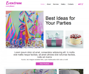 Eventrum  Css3Template Downloads: 20