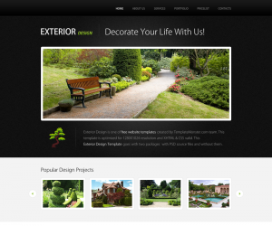Exterior Css3 Template Downloads: 6937