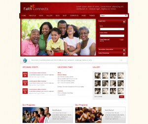 Faith Connects  Css3Template Downloads: 336