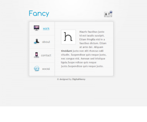 Fancy Vcard Css3 Template Downloads: 178