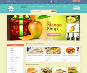 Foodie Shop Css3 Template Downloads: 44