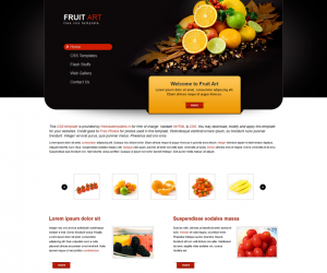 Fruit Art Css3 Template Downloads: 14584