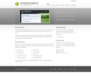 Green Biz  Css3Template Downloads: 44