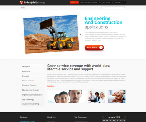 Industrial Services Css3 Template Downloads: 7861