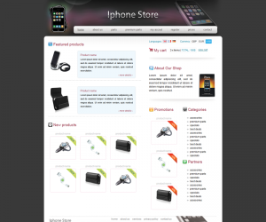 Iphone Store Css3 Template Downloads: 4421
