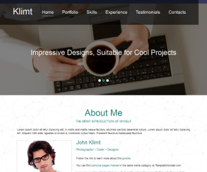 Klimt  Css3Template Downloads: 1010