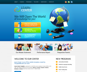 Learn Center Css3 Template Downloads: 6650