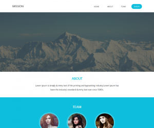 Mission  Css3Template Downloads: 32