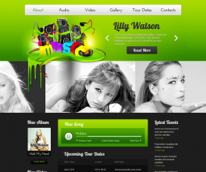 Music World Css3 Template Downloads: 5419