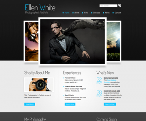 Photographer Portfolio Css3 Template Downloads: 7054