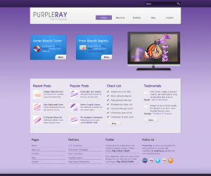Purple Ray  Css3Template Downloads: 15