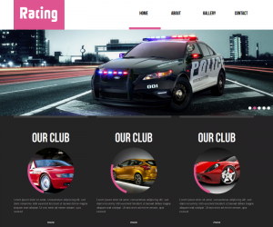Racing  Css3Template Downloads: 36