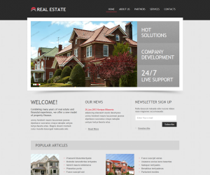 Real Estate Css3 Template Downloads: 5822
