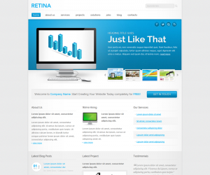 Retina Css3 Template Downloads: 4969
