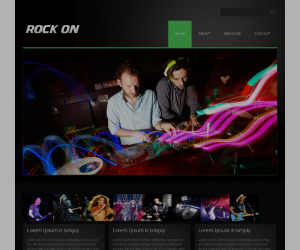 Rock On Css3 Template Downloads: 47