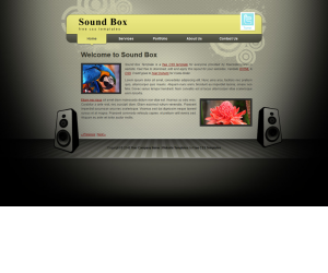 Sound Box Css3 Template Downloads: 12674