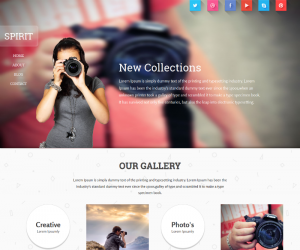 Spirit  Css3Template Downloads: 63