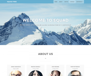 SQUAD FREE  Css3Template Downloads: 973