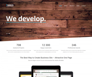 Timber  Css3Template Downloads: 46