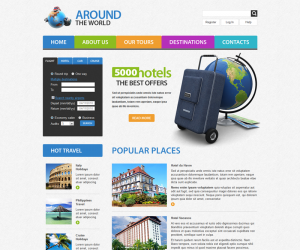 Travel Css3 Template Downloads: 4903
