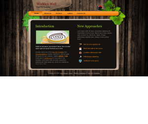 Woodenwall Css3 Template Downloads: 29575
