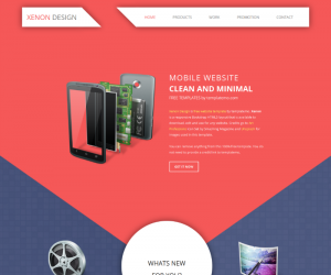 Xenon Design  Css3Template Downloads: 620