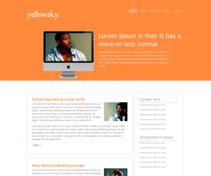 Yellowsky Css3 Template Downloads: 16