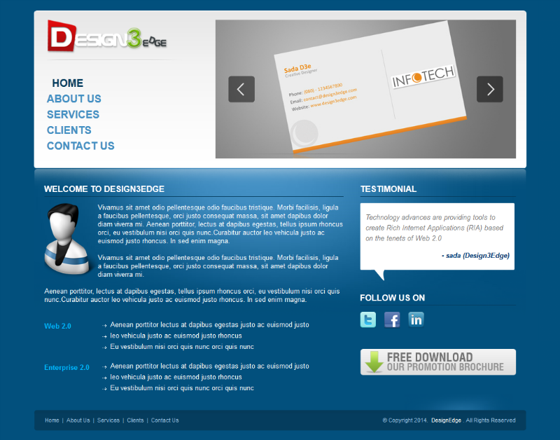 Download Free CSS Templates - Free Jquery Templates freecss.in